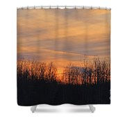Patchwork Sunset Shower Curtain