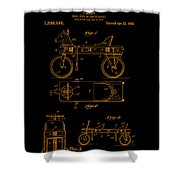 Patent Art 1920 Herzog Hobby Horse Gold Shower Curtain