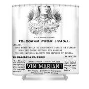 Patent Medicine, 1894 Shower Curtain