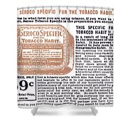 Patent Medicine Ad, 1890s Shower Curtain