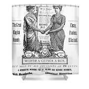 Patent Medicine Pill, 1890 Shower Curtain