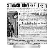 Patent Medicine: Stomach Shower Curtain