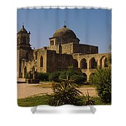 Path In Front Of A Church, Mission San Shower Curtain