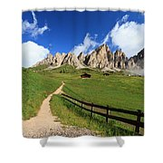 path in Gardena pass Shower Curtain