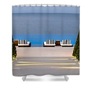 Path Leading To Heaven Shower Curtain