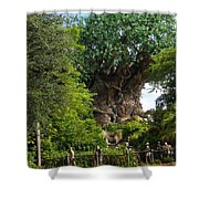 Path Leading To Tree Of Life Shower Curtain