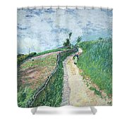 Path Leading To Ville D'avray Shower Curtain