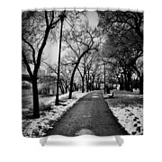 Path Me Bye  Shower Curtain