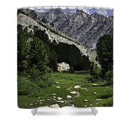 Path Of Life Ruby Mountains Stock Trail Shower Curtain