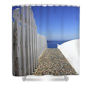 Path Out To Sea Shower Curtain