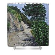 Path To L'eremo Sul Mare Shower Curtain