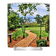 Garden Path To Wild Marsh Shower Curtain