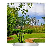 Path To Marshes Shower Curtain