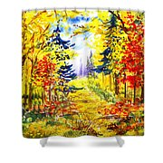 Path To The Fall Shower Curtain