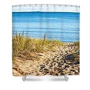 Path To The Lake Superior Beach Shower Curtain