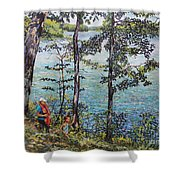Path To The Lake Shower Curtain