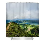 Path To The Lakes Shower Curtain