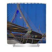 Path To The Leonard P. Zakim Bridge Shower Curtain