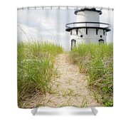 Path To The Lighthouse Shower Curtain