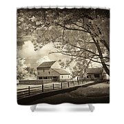 Path To The Old Barn Shower Curtain