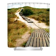 Path To The Sea Shower Curtain
