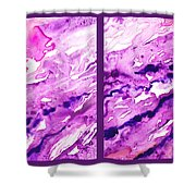 Path To The Unknown Diptych In Purple Shower Curtain