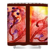 Path To The Unknown Warm Diptych  Shower Curtain