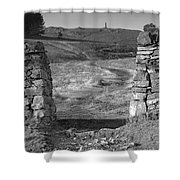 Path To The War Memorial Shower Curtain