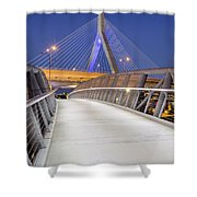 Path To The Zakim Bridge Shower Curtain
