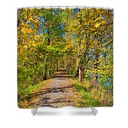 Pathway Along The Ohio And Erie Canal  Shower Curtain