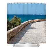 Pathway By The Sea Shower Curtain