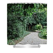 Pathway Of Monks Shower Curtain