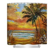 Pathway To The Beach 11 Shower Curtain