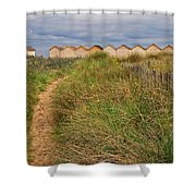 Pathway To The Cabanas Shower Curtain