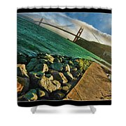 Pathway To The Golden Gate Shower Curtain