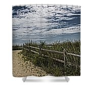 Pathway To The Sea Shower Curtain by Tom Gari Gallery-Three-Photography