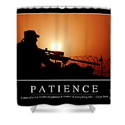 Patience Inspirational Quote Shower Curtain by Stocktrek Images