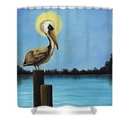 Patiently Fishing Shower Curtain