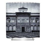 Patio De La Montaria Bw Shower Curtain