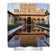 Patio De Los Arrayanes La Alhambra Shower Curtain