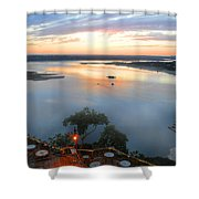 Patio With A View  Shower Curtain