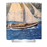 Patriot At Catalina Lighthouse Shower Curtain
