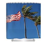 Patriot Keys Shower Curtain by Carey Chen