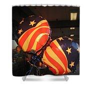 Patriotic Balloons Veteran's Day Casa Grande Arizona 2004 Shower Curtain