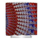 Patriotic Bandana Shower Curtain