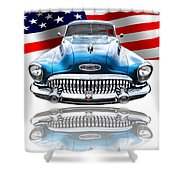 Patriotic Buick Riviera 1953 Shower Curtain