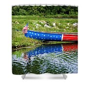 Patriotic Canoe #1 Shower Curtain