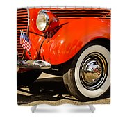 Patriotic Car Shower Curtain
