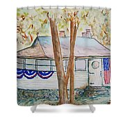 Patriotic Cottage Shower Curtain