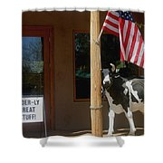 Patriotic Cow Cave Creek Arizona 2004 Shower Curtain